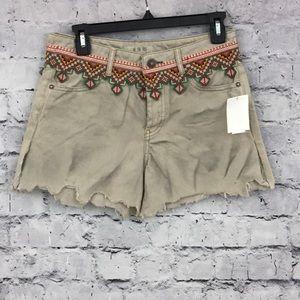 Free People Cutoff Khaki Shorts (647)